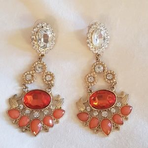 Bebe orange crystal earrings